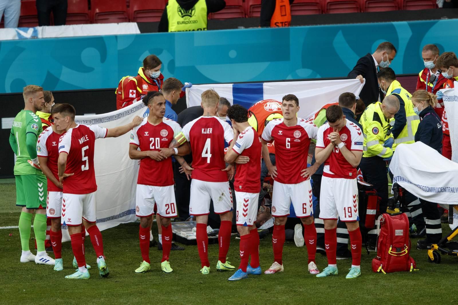 В сборной России рассказали о реакции футболистов на ситуацию с Эриксеном