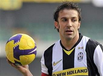 Дель Пьеро сравнялся с Бониперти по числу голов в серии А