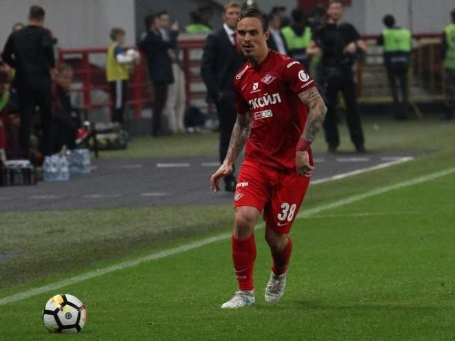 Ещенко сыграл 100-й матч за «Спартак»