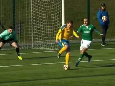 Классный гол Панюкова пяткой в чемпионате Литвы