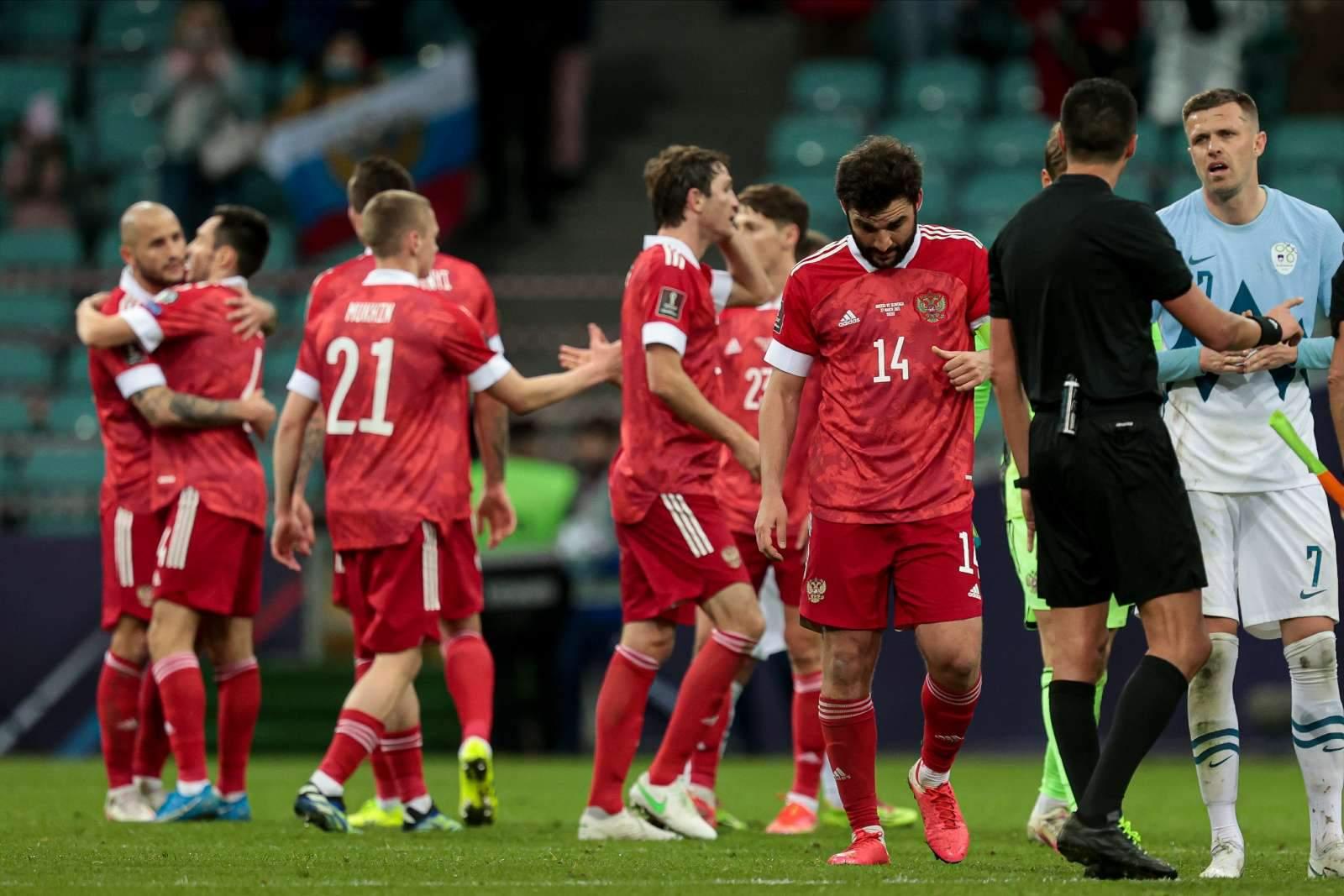 Сборная России показала форму на матч со Словенией