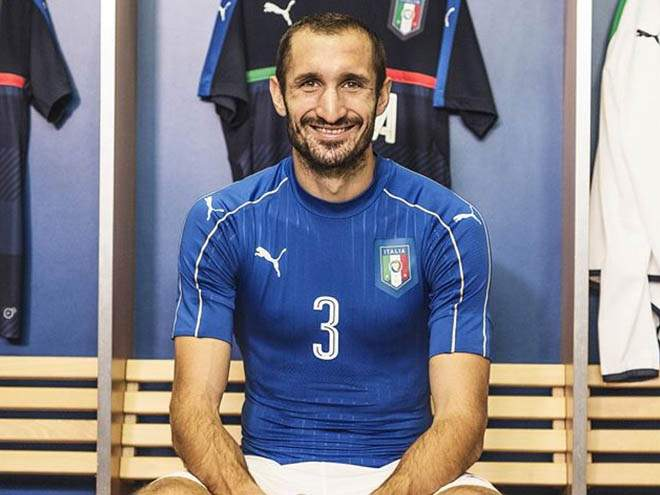 Кьеллини проводит 100-й матч за сборную Италии