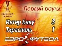 """""""Интер"""" выбил """"Тирасполь"""" из Лиги Европы"""