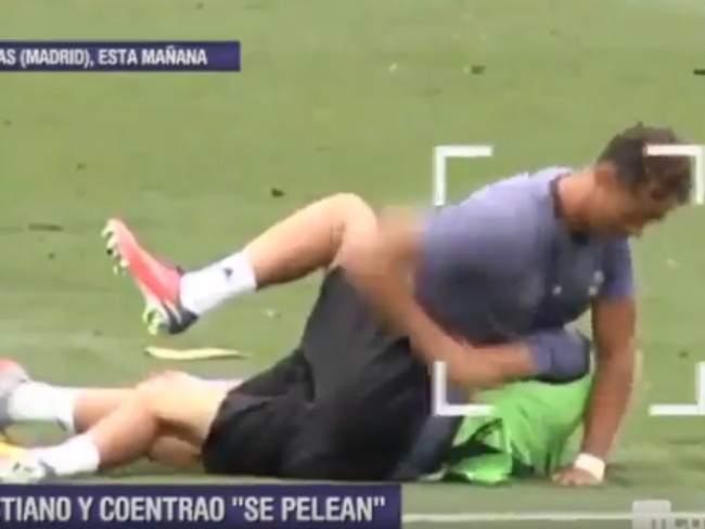 Роналду и Коэнтрау подрались на тренировке