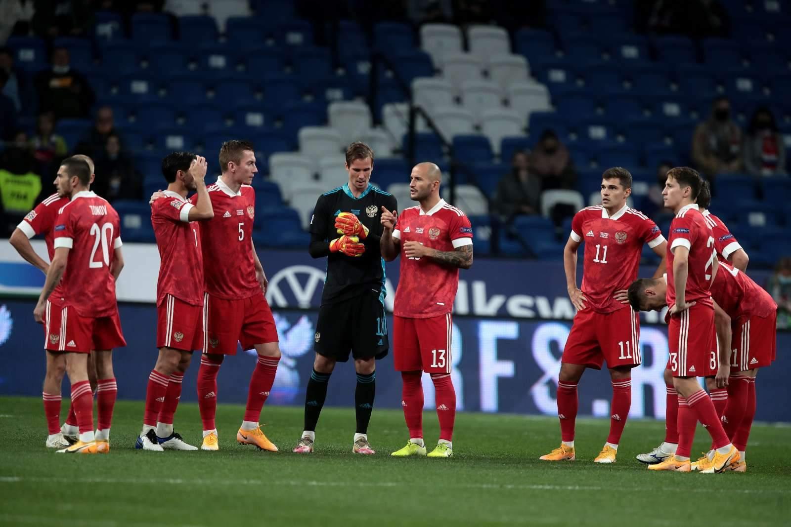 Сборная России сыграет против Словении в красной форме