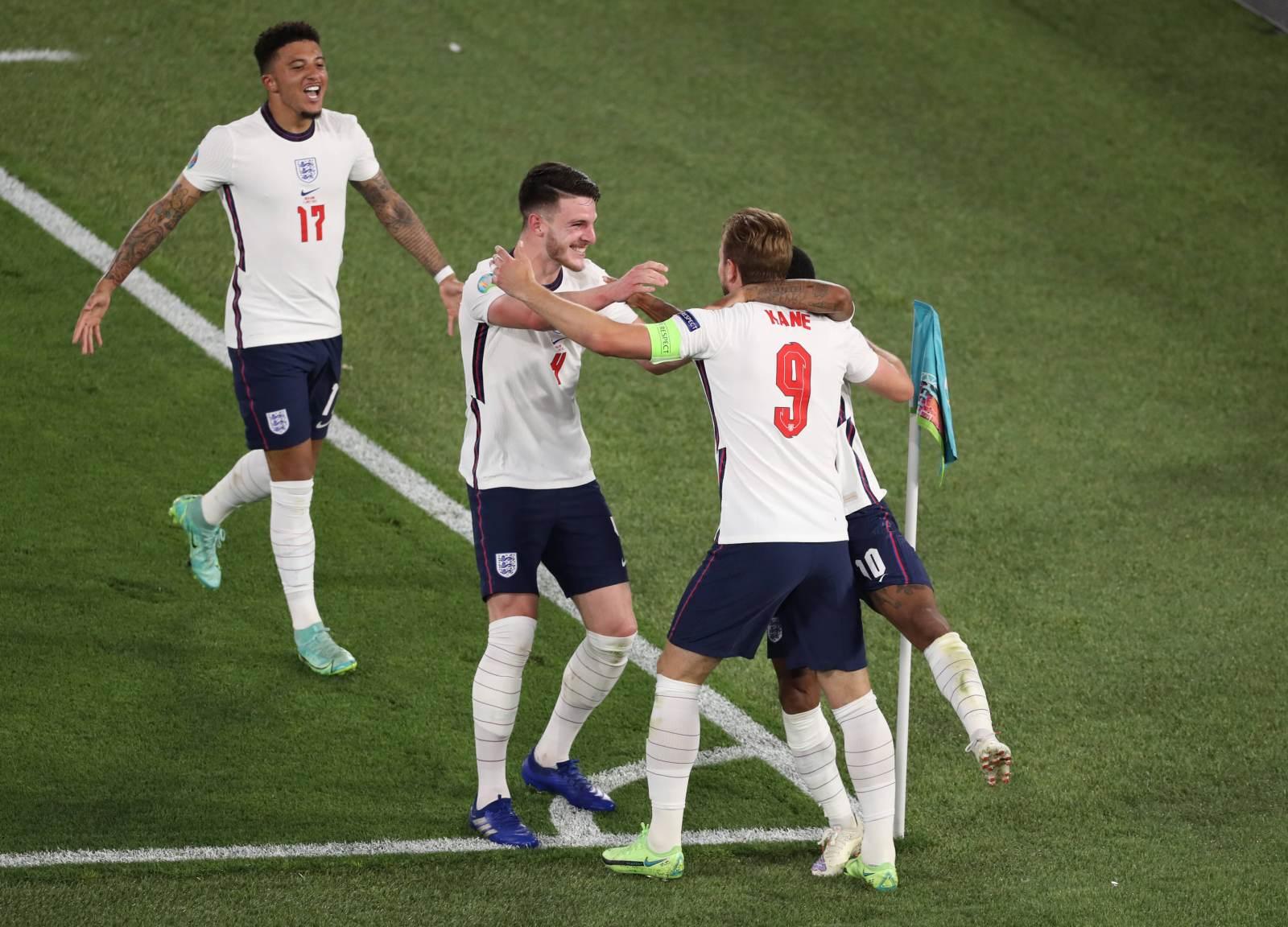 Англия - Дания - 2:1 (закончен)