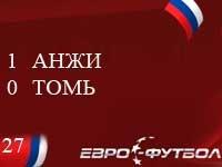 """""""Анжи"""" с минимальным счётом переиграл """"Томь"""""""